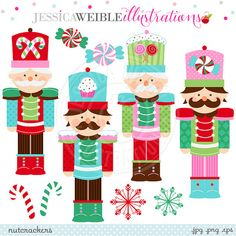 Nutcracker Cute Digital Clipart for Commercial or Personal Use, Christmas Clipart, Christmas Graphics, Nutcracker Clipart from JW Illustrations Christmas Wood, Christmas Candy, Christmas Time, Christmas Crafts, Christmas Decorations, Xmas, Christmas Ornaments, Merry Christmas, Christmas Graphics