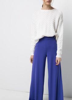 Pantalon palazzo -  Femme | MANGO Outlet France