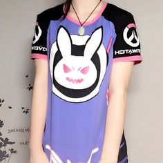 Overwatch D.Va DVA Rabbit Bunny T-shirt Ver.2