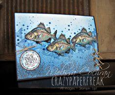 Fish On ~ By the Tide Melissa Cochran crazypaperfreak.blogspot.com