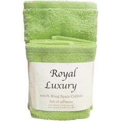 4 Piece Towel Set Color: Celery ($25) ❤ liked on Polyvore featuring home, bed & bath, bath, bath towels, fillers, green fillers, accessories, mint green bath towels, cotton bath towels and green hand towels