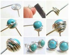 DIY: How to Make Stud Earrings Free DIY: How to Wire Wrapped Bead Stud Earrings! See step by step tutorial featured in recent Sova- Newsletter!Free DIY: How to Wire Wrapped Bead Stud Earrings! See step by step tutorial featured in recent Sova- Newsletter! Bijoux Wire Wrap, Wire Wrapped Earrings, Pearl Stud Earrings, Pearl Studs, Wire Earrings, Earrings With Chain, How To Make Earrings, Heart Earrings, Flower Earrings