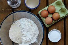 Bocados Caseros: RECETA AUTÉNTICA DE DONUTS CASEROS (Exactos al original) Brownie Cupcakes, Churros, Empanadas, Bagel, Cookies, Eggs, Chocolate, Breakfast, Food