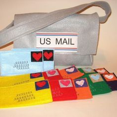 Mail and Mail Bag for your favorite little mailman or to use with Playhouses