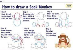 Webkinz World - Fun Stuff - How To Draw A Sock Monkey in Creative Corner Forum