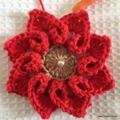Flor coração passo a passo - croche.com (45)