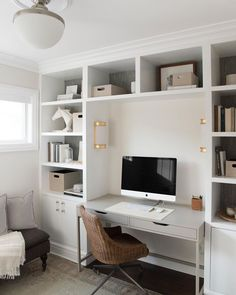 Unusual Small Home Office Furniture Design Ideas For Cozy Work 35 Small Home Office Furniture, Home Office Space, Home Office Design, Home Office Decor, Home Decor, Office Ideas, Apartment Office, Home Office Shelves, Bedroom Office