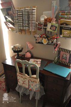 Craft Room & Office Makeover - Vintage Charm Restored