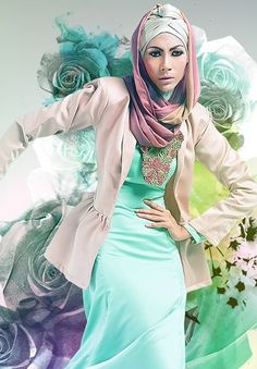 Slim fit,intricate fall of the scarf and perfect background.  Love the colours.    | Efashion Stream Fashion Blog