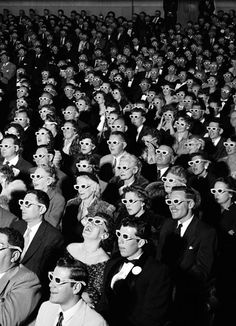 1952 - premiere of Bwana Devil - the first full-length, colour 3D film.