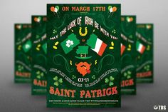 Saint Patricks Day Flyer Template V4 by Thats Design Store on @creativemarket