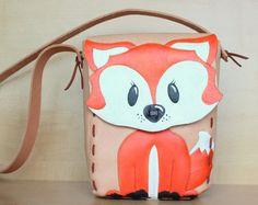 Leather Fox Purse for Women - Spring Gift Ideas for Her - Orange Fox Handbag - Summer Gift for Girls - 2019 Fox Purse, Fox Bag, Handmade Purses, Handmade Handbags, Baby Boots, Womens Purses, Gifts For Girls, Leather Purses, Orange