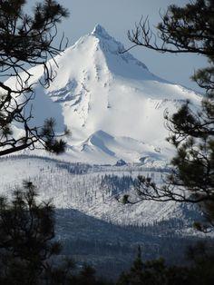 Mount Jefferson taken near Camp Sherman, Oregon