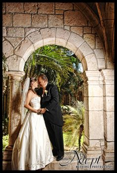 Wedding Photography from Miami's Ancient Spanish Monastery!  Lovely place to get married! #spanish #monastary #miami #wedding #photography #garden #weddingphotographer