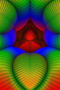 3D fractal image created with Mandelbulb 3D software.
