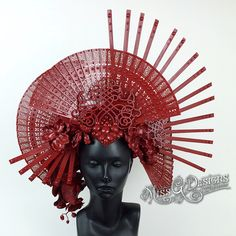 RED MONOCHROMATIC HEADDRESS https://instagram.com/p/8mMnDEgCgu/?taken-by=missgdesigns