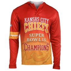 NFL Kansas City Chiefs Klew On the Fifty Matchup Hooded Long Sleeve T-Shirt - Red