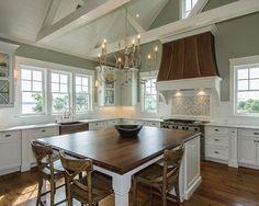 Beautiful kitchen, horizon gray by Benjamin Moore.