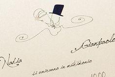 Partecipazioni nozze vintage, romantico, originale: madama