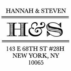 Couple Initials Personalized Address Stamper