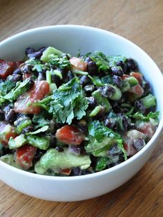 A healthy Avocado & Black Bean Salad...