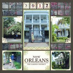 New Orleans Scrapbook Page - Gorgeous! This page looks very elegant and I love the mosaic elements.