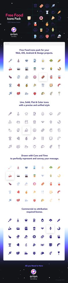 The Food Icon Set is an awesome freebie provided by Orion Icon Library. Free Icon Fonts, Android Design, Food Icons, Icon Pack, Your Message, Icon Set, Free Food, Designer, Messages