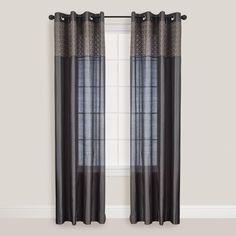 Slate Calypso Curtain | World Market