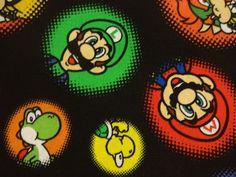 "Cool ""MARIO BROS. CHARACTERS"" Handmade Cotton Pillowcase Standard/Queen #Handmade #GamerNovelty"