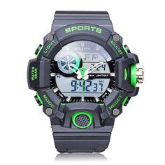 Sale 10% (12.99$) - ALIKE AK14101 Back Light Sport Big Dial Alarm Men Quartz Watch