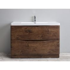 Shop for Eviva Smile 48-inch Rosewood Modern Bathroom Vanity Set with Integrated White Acrylic Sink. Get free delivery at Overstock.com - Your Online Furniture Outlet Store! Get 5% in rewards with Club O!