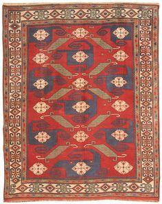 Antique Turkish Pinwheel Design Rug 6.3 X 7.9 - Fred Moheban Gallery