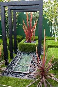 dekorieren garten mit exotischen-pflanzen Holz-Pflanzenstütze Pergola