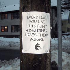 Just say no to Comic Sans..