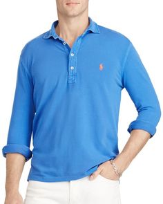 Polo Ralph Lauren Featherweight Mesh Slim Fit Polo Shirt