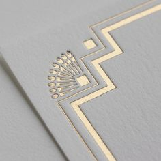 Close up up Gatsby boxed notecards from Lucky Luxe