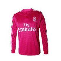 Real Madrid CF 2014-15 Season Pink Long Sleeve Jersey [A866]
