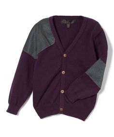 Loving this Purple Cardigan - Toddler & Boys on #zulily! #zulilyfinds