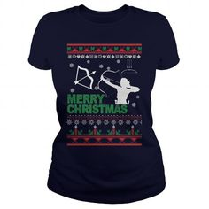 Awesome Archery Lovers Tee Shirts Gift for you or your family member and your friend:  Archery Ugly Christmas Tee Shirts T-Shirts