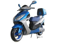 """SCO002 150cc Scooter Automatic Transmission, Front Disc/Rear Drum Brake, 13"""" Wheels, Rear Trunk $750.00"""