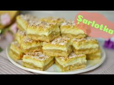 Șarlotka: prăjitură cu mere și budincă de vanilie | Apple cake with vanilla pudding | Dulcinele 🍏 - YouTube No Cook Desserts, Party Desserts, Pie Co, Pear Recipes, New Cake, Polish Recipes, Apple Cake, Coffee Cake, Cake Cookies