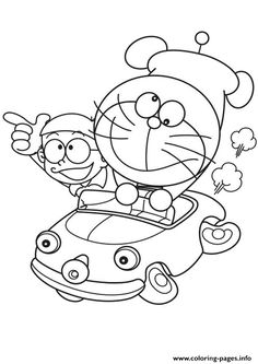 10 Mewarnai Gambar Doraemon Bonikids Coloring Page Pinterest