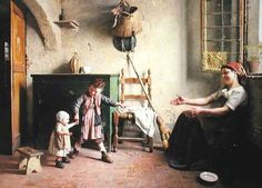"Gaetano Chierici (Italian 1838-1920) ""The First Steps"""