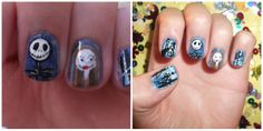Inspired by Robin Moses~ Nightmare before christmas nails