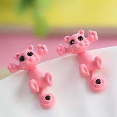 Cute Cat Earrings - Light Pink - Shire Fire