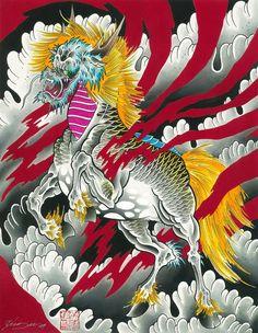 Kirin by Cody Meyer Chinese Dragon Horse Qilin Canvas Fine Art Print