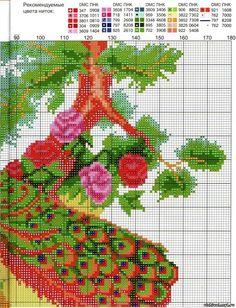 Cross stitch chart vivace PAVONE Bird solo Grafico