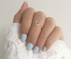 Heart Ankle Ring Silver Heart Ring For Her Everyday Bridesmaid Jewelry Unique . - Heart Ankle Ring Silver Heart Ring For Her Everyday Bridesmaid Jewelry Unique Ring Small Ring - Cute Rings, Unique Rings, Beautiful Rings, Simple Rings, Tiny Rings, Simple Silver Rings, Dainty Jewelry, Cute Jewelry, Jewlery