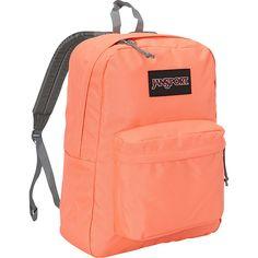 Jansport Superbreak Backpack ($36) ❤ liked on Polyvore featuring bags, backpacks, orange, red bags, rucksack bag, utility backpack, jansport daypack and pocket bag