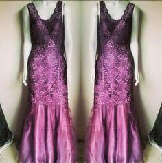Long evening lace dress